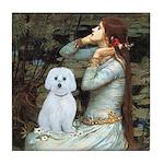Ophelia (#1) - Maltese (B) Tile Coaster