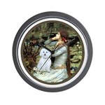 Ophelia (#1) - Maltese (B) Wall Clock
