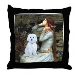Ophelia (#1) - Maltese (B) Throw Pillow