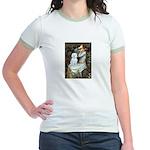Ophelia (#1) - Maltese (B) Jr. Ringer T-Shirt
