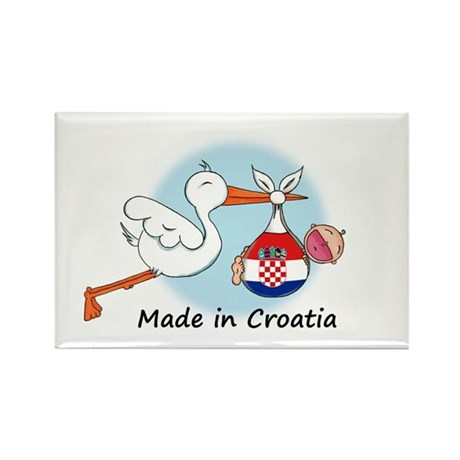 Stork Baby Croatia Rectangle Magnet