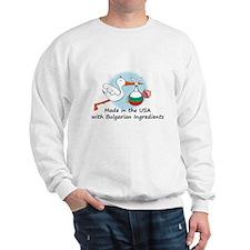 Stork Baby Bulgaria USA Sweatshirt