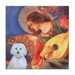 Mandolin Angel - Maltese (B) Tile Coaster