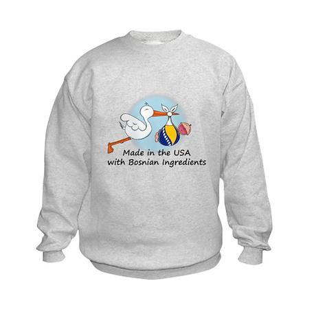 Stork Baby Bosnia USA Kids Sweatshirt