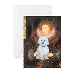 Queen / Maltese (B) Greeting Cards (Pk of 20)
