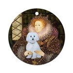 Queen / Maltese (B) Ornament (Round)