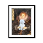 Queen / Maltese (B) Framed Panel Print