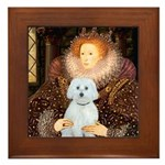 Queen / Maltese (B) Framed Tile
