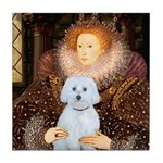Queen / Maltese (B) Tile Coaster