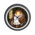 Queen / Maltese (B) Wall Clock