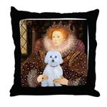 Queen / Maltese (B) Throw Pillow