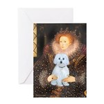 Queen / Maltese (B) Greeting Card