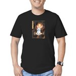 Queen / Maltese (B) Men's Fitted T-Shirt (dark)