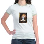 Queen / Maltese (B) Jr. Ringer T-Shirt