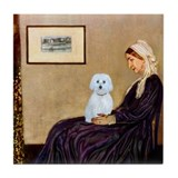 Whistlers Mom / Maltese (B) Tile Coaster