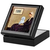 Whistlers Mom / Maltese (B) Keepsake Box