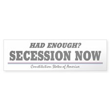 Secession Now! Bumper Sticker