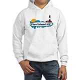 Fire Island NY - Surf Design Jumper Hoody
