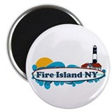 Fire Island NY - Surf Design Magnet