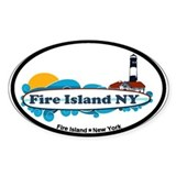Fire Island NY - Surf Design Decal