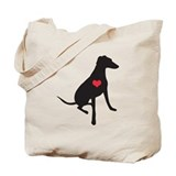 greyhound/whippet/lurcher double sided Tote Bag
