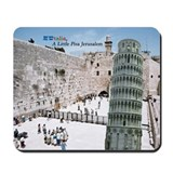 Jewtalia: A Little Pisa Jerusalem Mousepad