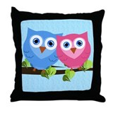 Owl Love Throw Pillow