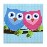 Owl Love Tile Coaster