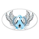 Awareness Tribal Light Blue Decal