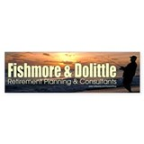 Fishmore & Dolittle Bumper Car Sticker