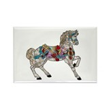 Carousel Horse Rectangle Magnet (100 pack)