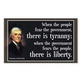 Jefferson: Liberty vs. Tyranny  Aufkleber