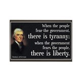 Jefferson: Liberty vs. Tyranny Rectangle Magnet