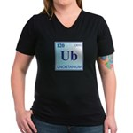 Unobtainium Women's V-Neck Dark T-Shirt