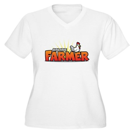 Online Farmer Women's Plus Size V-Neck T-Shirt