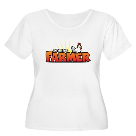 Online Farmer Women's Plus Size Scoop Neck T-Shirt