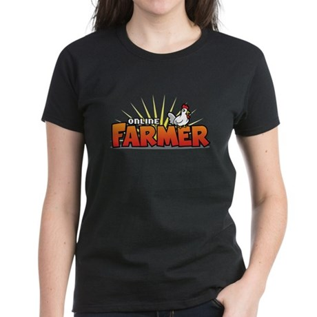 Online Farmer Women's Dark T-Shirt