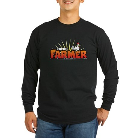 Online Farmer Long Sleeve Dark T-Shirt