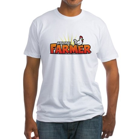 Online Farmer Fitted T-Shirt