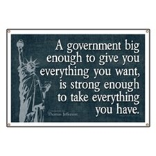 Jefferson: government big enough to... Banner