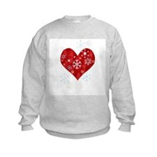 Snow Flake Heart Sweatshirt