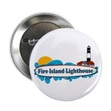 "Fire Island Lighthouse 2.25"" Button"