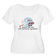 Stork Baby Dominican Rep. USA T-Shirt