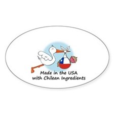 Stork Baby Chile USA Decal