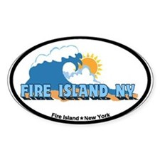 Fire Island - Waves Design Decal