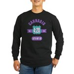 Cannabis 420 Long Sleeve Dark T-Shirt