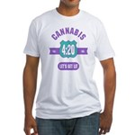 Cannabis 420 Fitted T-Shirt