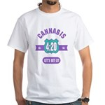 Cannabis 420 White T-Shirt