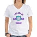 Cannabis 420 Women's V-Neck T-Shirt