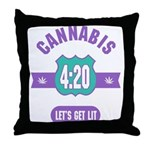 Cannabis 420 Throw Pillow